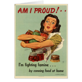 Vintage Housewife Card