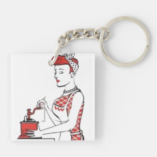 Vintage Housewife Keychain
