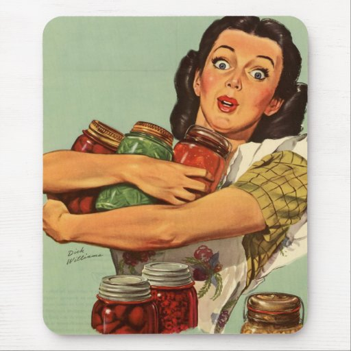 Vintage Housewife Mouse Pads