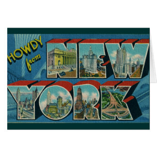 Vintage Howdy from New York Card