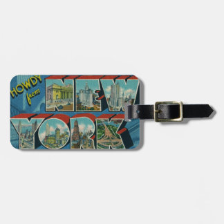 Vintage Howdy from New York Luggage Tag