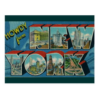 Vintage Howdy from New York Postcard
