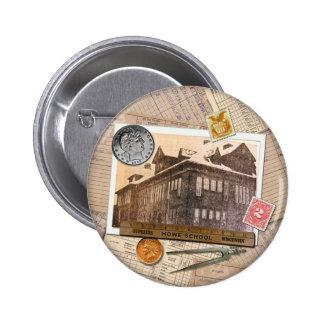 Vintage Howe School Superior Wisconsin Pinback Buttons