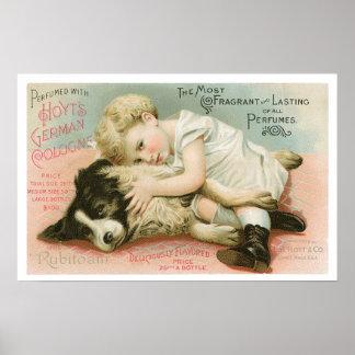 Vintage Hoyt's German Cologne Advertising Poster