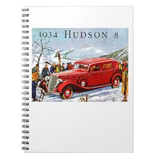 Vintage Hudson Automobile Ad Notebook