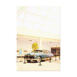 Vintage Hudson Car Under Skylight