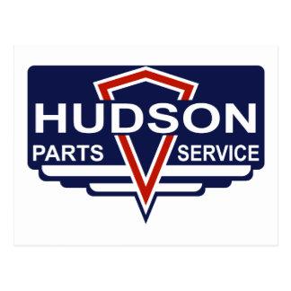 Vintage Hudson parts sign Postcard