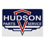 Vintage Hudson parts sign Poster