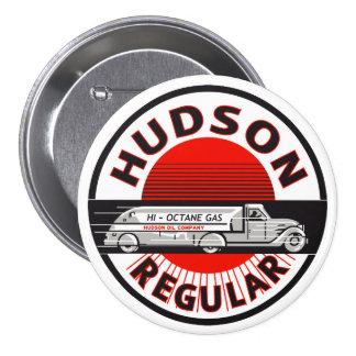 Vintage Hudson Regular gasoline sign Button