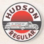 Vintage Hudson Regular gasoline sign Drink Coaster