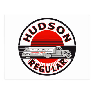 Vintage Hudson Regular gasoline sign Postcard
