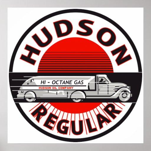 Vintage Hudson Regular gasoline sign Poster