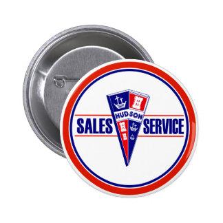 Vintage Hudson service sign Pinback Button