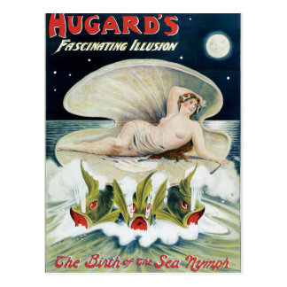 Vintage Hugard's Fascinating Illusion Poster Post Card
