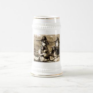 Vintage Hula Girls from the Territory of Hawaii Beer Stein