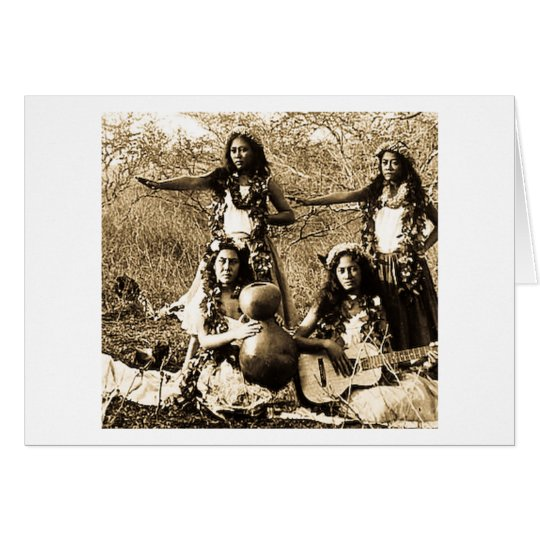 Vintage Hula Girls from the Territory of Hawaii Card