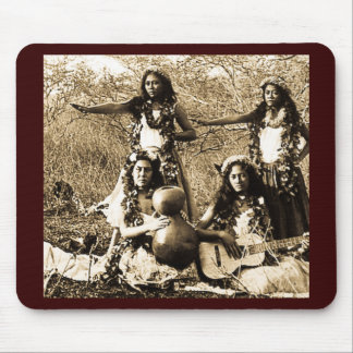 Vintage Hula Girls from the Territory of Hawaii Mouse Pad