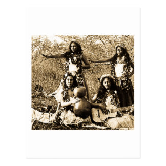Vintage Hula Girls from the Territory of Hawaii Postcard