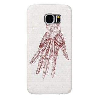 Vintage Human Anatomy Art Hand Muscles Red Samsung Galaxy S6 Case