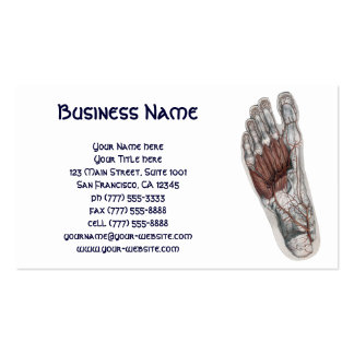 Vintage Human Anatomy Foot Feet Podiatry Double-Sided Standard Business Cards (Pack Of 100)