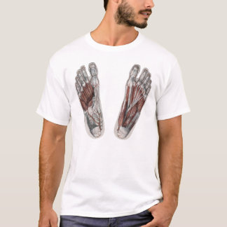 Vintage Human Anatomy Footprint Podiatry Foot T-Shirt