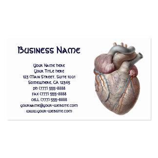 Vintage Human Anatomy Heart Organs Healthy Business Card Templates