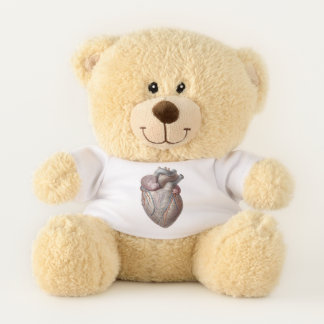 Vintage Human Anatomy Heart Organs Healthy Teddy Bear