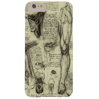 Vintage Human Anatomy Larynx Leg Leonardo da Vinci Barely There iPhone 6 Plus Case