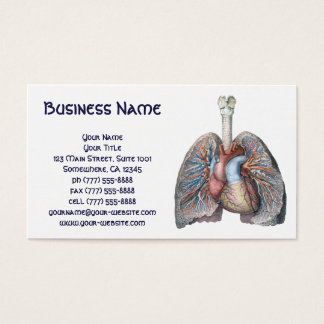 Vintage Human Anatomy Lungs Heart Organs Blood Business Card