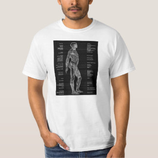 Vintage - Human Anatomy Muscles Black T-Shirt