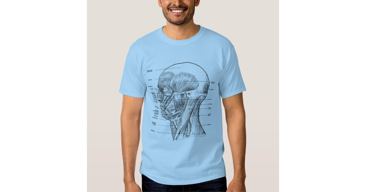Vintage Human Anatomy Muscles Face Head Neck T Shirt