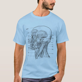 Vintage - Human Anatomy Muscles (Face, Head, Neck) T-Shirt