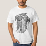 Vintage - Human Anatomy Muscles Front & Back Views T Shirt