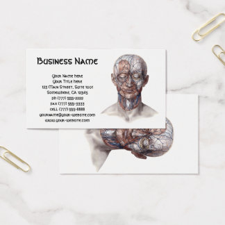 Vintage Human Anatomy Science, Head Throat Nose Business Card