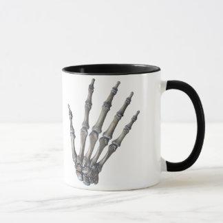Vintage Human Anatomy Science, Skeleton Hands Mug