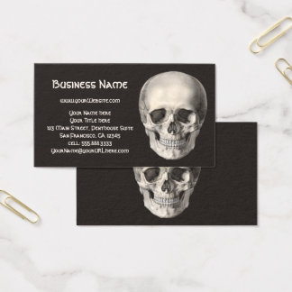 Vintage Human Anatomy Skull, Halloween Skeleton Business Card
