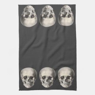 Vintage Human Anatomy Skull, Halloween Skeleton Hand Towel