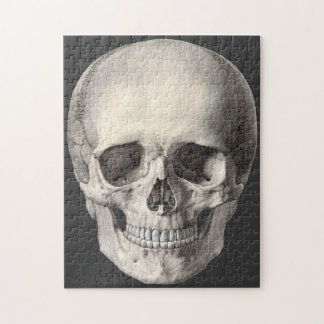 Vintage Human Anatomy Skull, Halloween Skeleton Jigsaw Puzzle