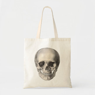 Vintage Human Anatomy Skull, Halloween Skeleton Tote Bag