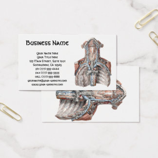 Vintage Human Anatomy Throat, Neck, Chest, Ribs Business Card
