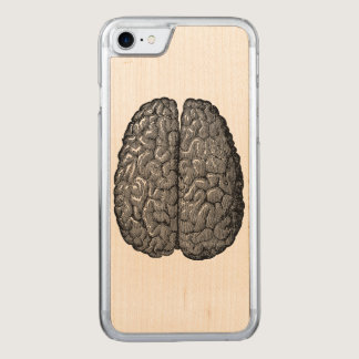 Vintage Human Brain Illustration Carved iPhone 8/7 Case