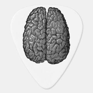 Vintage Human Brain Illustration Guitar Pick
