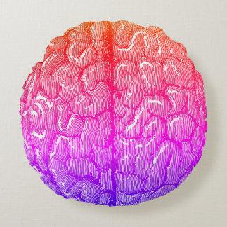 Vintage Human Brain Illustration Ipanema Round Pillow