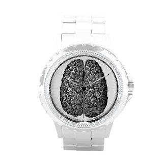 Vintage Human Brain Illustration Wrist Watches