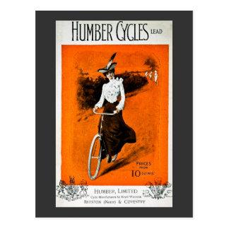 Vintage Humber Bike Advertisement Postcard