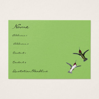 Vintage Humming Birds choose Background colors Business Card