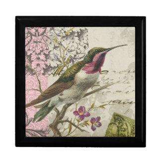 Vintage Hummingbird...box with tile lid Keepsake Box