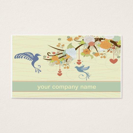 vintage hummingbird business card