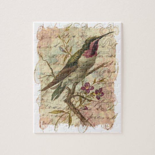 Vintage Hummingbird Jigsaw Puzzle