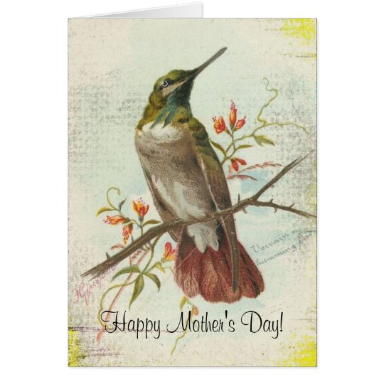Vintage Hummingbird, Mother's Day Card